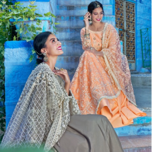 Muslin Gowns With Lakhnavi Heavy Dupatta