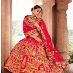 Bridal Lehenga in Silk